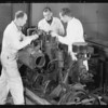 Diesel motors & students, Southern California, 1935