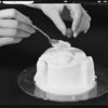 Ice cream cake and hands, Southern California, 1932