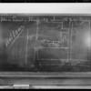 Blackboard, case of Moffitt vs. Ford Motor, Southern California, 1932