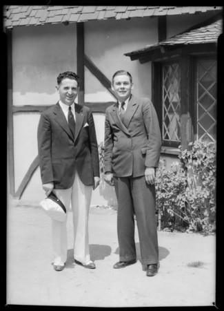 Mr. J.J. O'Connell and Mr. Schean, Southern California, 1932