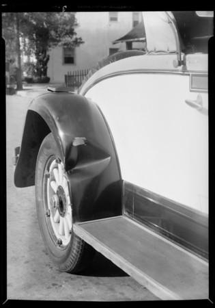 Car belonging to N.W. Coroles, 1034 Meadowbrook Avenue, Los Angeles, CA, 1932