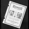 Brake lining advertising matter, Southern California, 1932