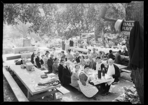 Picnic, Griffith Park, Los Angeles, CA, 1932