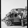Wilshire Storage Co. fleet of trucks, Southern California, 1932