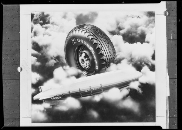 Akron & Air Flight Tire after retouching, Southern California, 1932