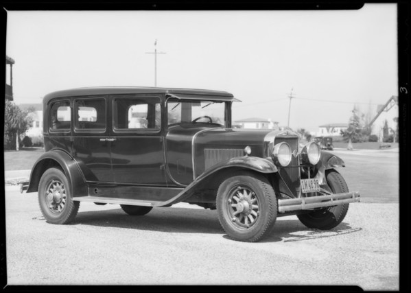 Cadillac belonging to Mr. Mallory, Southern California, 1932
