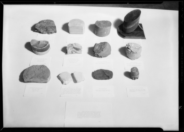 Archeology displays, Southern California, 1932