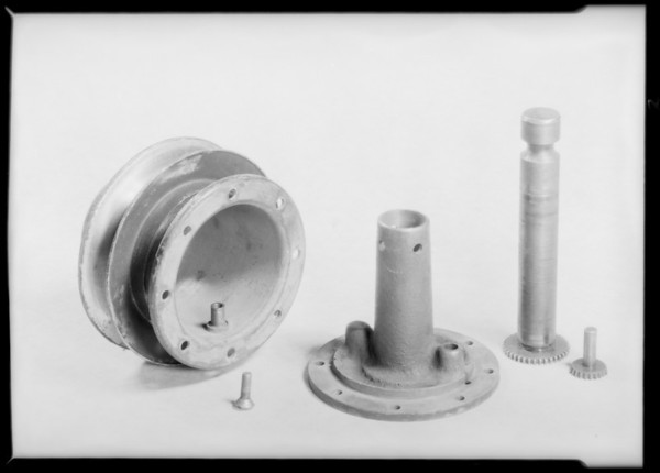 Worn automobile parts, Southern California, 1932