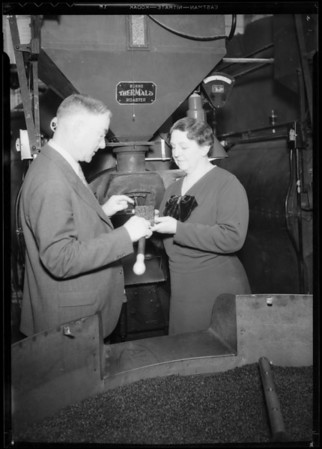 Home economic teacher & Mr. Weaver, Southern California, 1935
