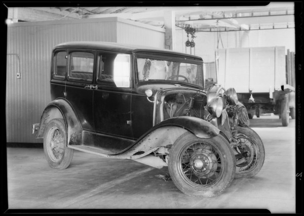 Ford touring, assured central manufacturing district and L. A. junction R. R., W. H. Nelson, owner, Southern California, 1932