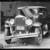 Wrecked Graham Paige sedan, File AL-4633, Southern California, 1932