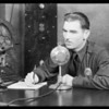 Police broadcast, Southern California, 1932