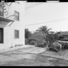 Bacher Hotel vs. Braun, views of rear of hotel, Southern California, 1932
