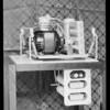 Refrigerators & shot of unit, Southern California, 1932