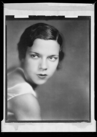 Portrait, G.G. Williams, Southern California, 1932