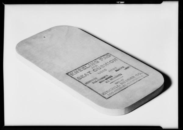 Kneeling pad, Southern California, 1932