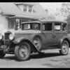 Hupmobile, Aleta Bock, assured, Southern California, 1935