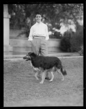 """Rex"" Stokey's dog, Southern California, 1935"