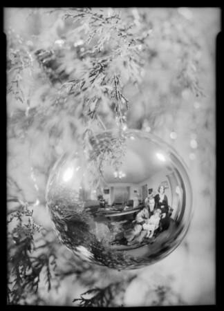 Christmas card, Southern California, 1932