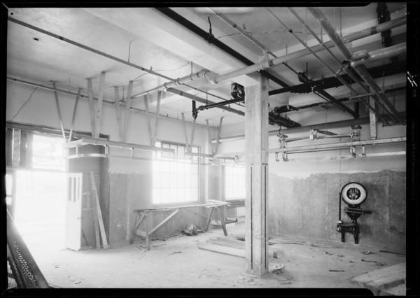 Meat racks, County Hospital, Los Angeles, CA, 1932