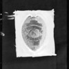 Police badge, Southern California, 1932
