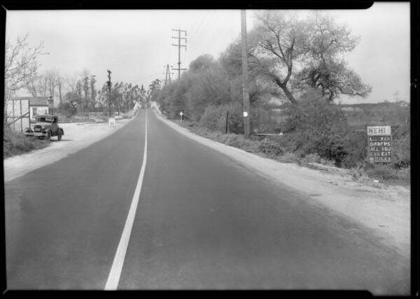 Truck, trailer & car accident, Telegraph Road, Southern California, 1932