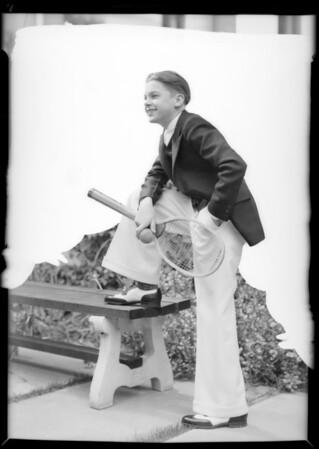 Boys' suits - Edgar Sharp, Southern California, 1932