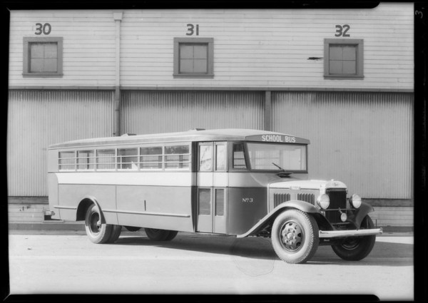 Alhambra school bus, Southern California, 1932