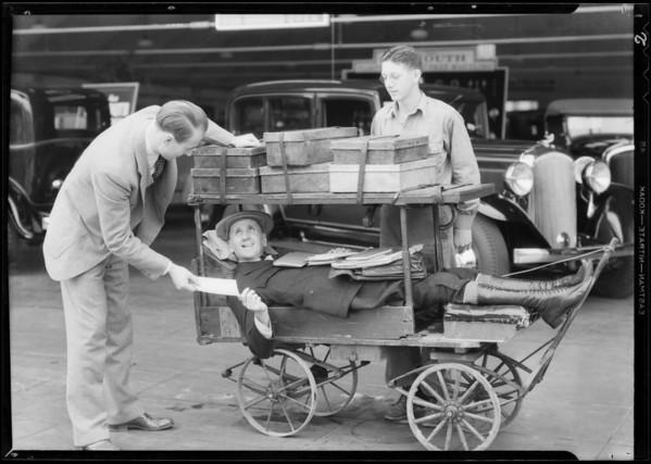 Crippled prize winner, Southern California, 1932