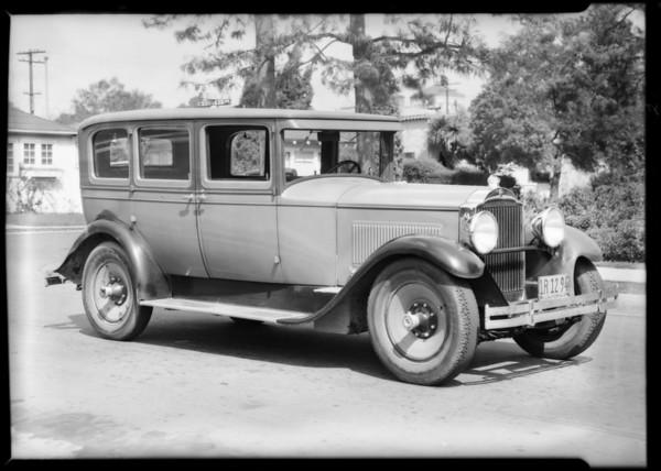Packard sedan, Southern California, 1932