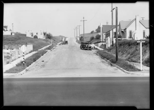 Intersection, Alhambra Avenue and Del Paso Avenue, Los Angeles, CA, 1932