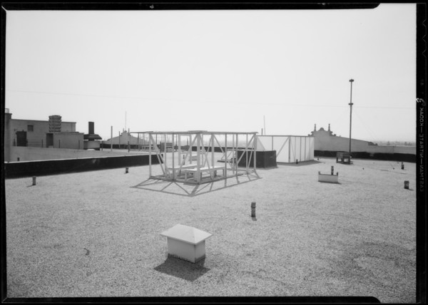 Roof of Dalton apartments, Southern California, 1932