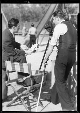 Taking miniature movies of activities in playgrounds, Southern California, 1932