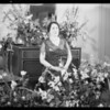 Mrs. Zillman & flowers, Los Angeles, CA, 1932