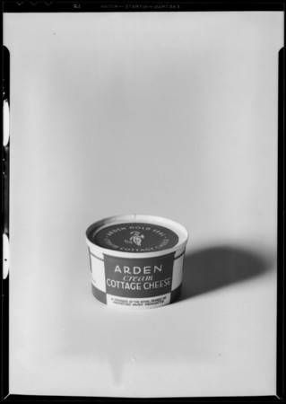 Cottage cheese carton, Southern California, 1932