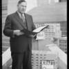 Supervisor Quinn and Kraft cheese, Southern California, 1933
