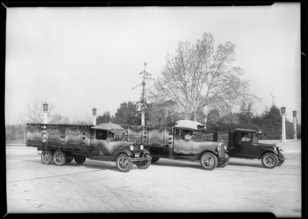 Trucks, Majestic Radio, Southern California, 1932