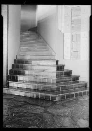 Main stairway at Maddux show room, 9230 Wilshire Boulevard, Beverly Hills, CA, 1932
