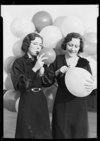 Balloon publicity, Southern California, 1932