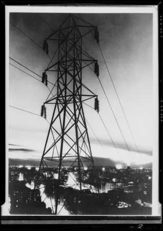 Day & night composites of city, Southern California, 1932