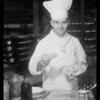 Chef of Biltmore for publicity, Southern California, 1934