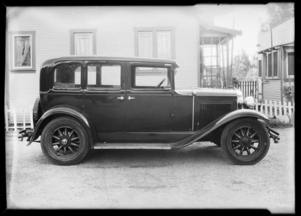 Mrs. Hagardy's Nash, Southern California, 1932