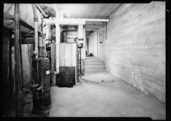 Basement of Embassy Apartments, case of Mrs. Dodge vs. Mortgage Guarantee Co., 706 South Mariposa Avenue, Los Angeles, CA, 1932