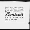Borden's fast frozen ice cream wording, Southern California, 1932