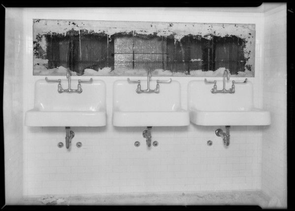 County Hospital, plumbing installation, Howe Bros., Los Angeles, CA, 1932