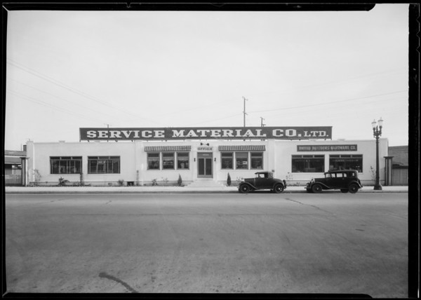 Views of property, Service Material Co., 4656 West Pico Boulevard, Los Angeles, CA, 1932