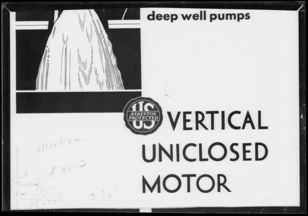 Seal, U.S. Motor, Southern California, 1932