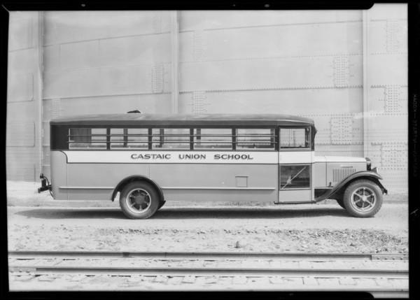 Castaic Union High School bus - Seal Beach & San Jacinto, Southern California, 1932