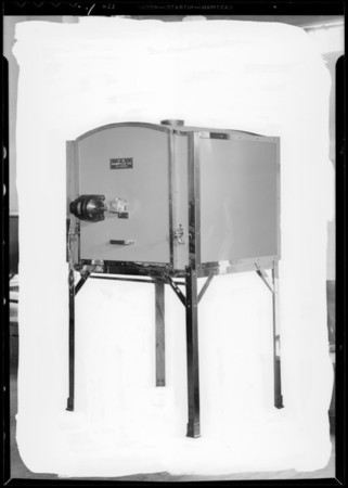 Barbecue machine, Southern California, 1932