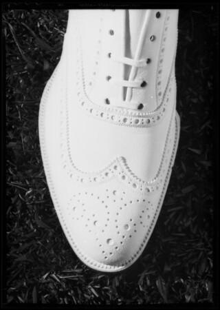 Sport shoe, Southern California, 1935